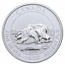 2013 1.5 Troy Oz .999 Silver Polar Bear Canadian Canada $8 *928