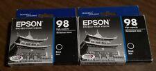 (2) NIB Genuine Epson 98 Black ink T0981 T098120 Artisan 835 837 High Capacity