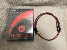 NORDOST HEIMDALL RCA INTERCONNECTS 1M IN ORIGINAL BOX