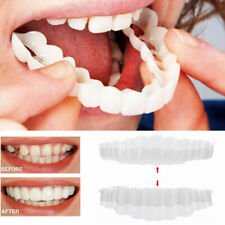 2Pcs/Set Upper Lower Comfort Flex White Fake Teeth Cover Veneer Denture Teeth