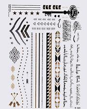 Gold  Flash Tattoos Arabische Schrift Tattoo Orient Armbänder 30 teilig W-089