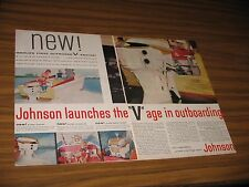 1957 Print Ad Johnson V-Engine Outboard Motors Waukegan,IL