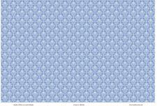 1:12 Scale Wallpaper Blue Damask- 3 Sheets - 0001480