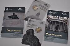 SAN MARINO 2 euro 2014 DONATO BRAMANTE - Set 500 aniv. della scomparsa