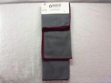 Sultan's Linens NWT 6Pc Gray Microfiber Towels Dishcloths Kitchen Set