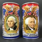 Beer Lucky Washington & Adams Set of 2 Vintage 12 oz CS Pull Tab Cans - empty