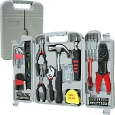 Stalwart 130 Piece Hand Tool Set Hammer Pliers Screwdriver Wrench Level Tap Meas