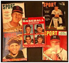 BUNDLE True Baseball Yearbook Mantle/Yogi/Musial 53/54/55/56' SPORT Magazines