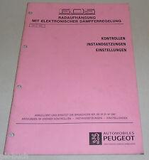 Werkstatthandbuch Peugeot 605 elektronische Dämpferregelung Radaufhängung 5/1992