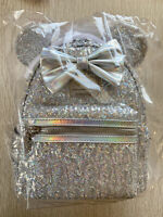 BNWT Loungefly LASR Disney Minnie Holographic Sequin Mini Backpack