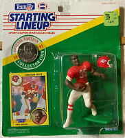 KENNER SLU 1991 SPECIAL EDITION KC CHIEFS CHRISTIAN OKOYE FIGURE / COIN / & CARD