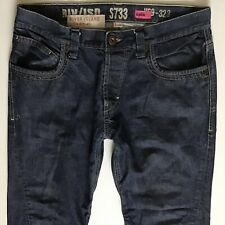 Mens River Island Slouch Fit Blue Jeans Size W34 L29 (hj386)