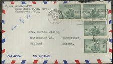 Canada MI 248 MEF Letter with airmail after Finland