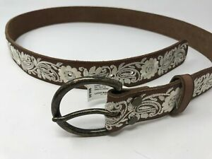 Women's Lucky Brand Suede Belt Size- L Color- Brown Floral