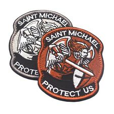 Saint Micheal Badger Military Tactical Army Morale Combat Multicam Patch LN