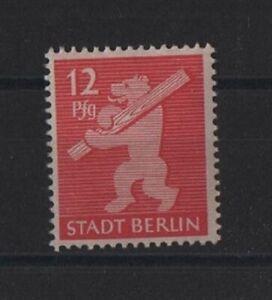 .SBZ -Berlin und Brandenburg 5 mit Schantl Plf. 5f16  (Bären) postfrisch