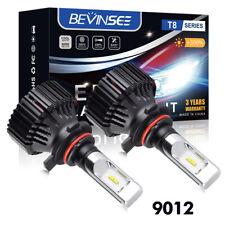Bevinsee 6000K White 9012 LED Headlights Conversion Kit Hi/Low Beam Bulbs 8000LM