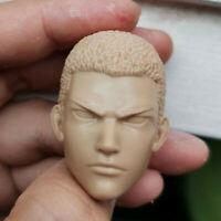Blank Hot 1/6 Scale Slam Dunk Hanamichi Sakuragi Head Sculpt Unpainted B Style