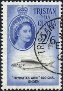 Tristan Da Cunha 1960 QEII  2/6d Snoek Fish   SG.39 Used   Cat:£11