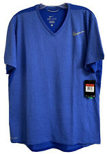 Men's Nike Running Shirt Dri Fit Size L New With Tags Blue Pattern