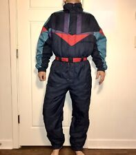 Mens MEDIUM One Piece SNOW SUIT Bib Retro Snowsuit Apres Ski Party Gaper Day VTG