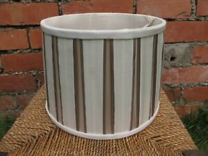 LAURA ASHLEY Pleated  Lampshade Taupe/Cream Ceiling Light / Lamp Shade