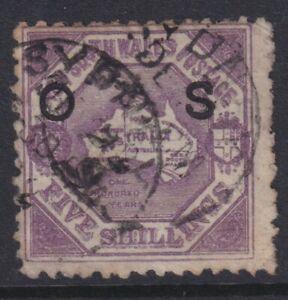 5/ violet, NSW, OS overprinted