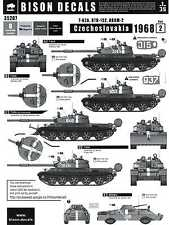 Bison Decals 1/35 CZECHOSLOVAKIA 1968 PART 2 T-62A BTR-152 & BRDM-2