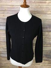 Sandra King Essentials Petite Medium Black Cardigan Staple Basic