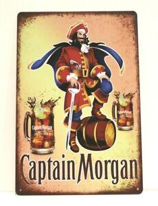 Captain Morgan Spiced Rum Tin Poster Sign Rustic Style Bar Restaurant Man Cave 1