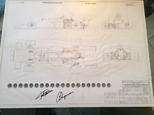 "Emerson Fittipaldi Signed JPS John Player Special Lotus 72 Plan. 31.5"" X 24"""