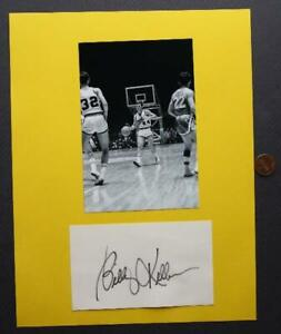 ABA Indiana Pacers star Billy Keller signed / autographed card & PURDUE photo!