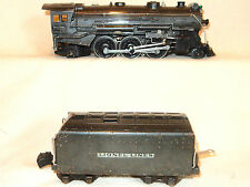 VINTAGE LIONEL 225E GUNMETAL GREY STEAM ENGINE WITH 2225WX WHISTLE TENDER-SCARCE