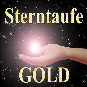 DOPPELSTERNTAUFE GOLD - ZWEI STERNE UNZERTRENNLICH, Geschenk Hochzeit, Taufe