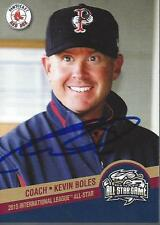 Kevin Boles 2015 Pawtucket Red Sox International Lg All Star Game Signed Card