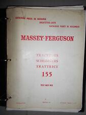 Massey Ferguson tracteur 155 : catalogue pièces 1970
