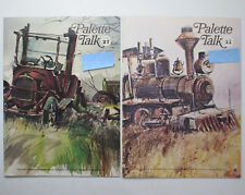 Two Vintage 1970s Copies of Palette Talk Magazine by Grumbacher Art for Artists