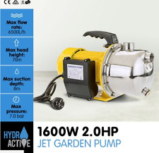 600w Stainless Steel Electric Jet Water Pump 2.0hp 70 Meters Height forced-air
