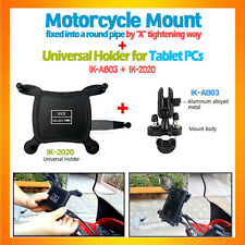 Al alloy Ubolt handle bar bike motorcycle mount+holder for tablets Galaxy Tab7..