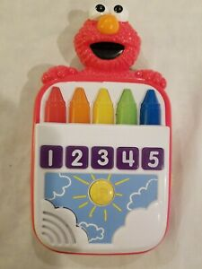 2011 Playskool Sesame Street Steps To School ELMO'S COUNT ALONG CRAYONS TOY RARE