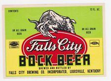 Falls City Bock Beer Label