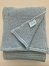 LAND OF NOD - Crate and Barrel - Cotton Blanket - Blue & White - Twin Size