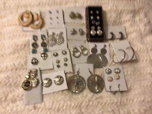 Earrings bundle costume jewellery.