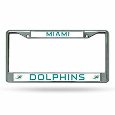 Miami Dolphins Plate Chrome Licence Plate Tag Frame for Car/Auto