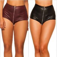 Koucla Gogo Wetlook Hotpants mit 2 Way Zip