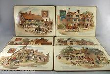 6 SETS DE TABLE  ANGLAIS anciens, les auberges célèbres, chevaux, british inns