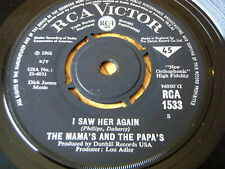 """THE MAMA'S AND THE PAPA'S - I SAW HER AGAIN  7"""" VINYL"""