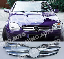 Mercedes-Benz R170 grille,1996-04,twin blade SLK32 AMG look,chrome,SLK230;SLK200