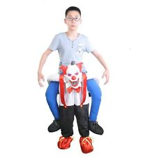 Handmade Fancy Insidious Clown Handmade  Mascot Costume Piggy Back Dress Gift A+
