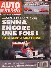 auto hebdo  1990 ALFA ROMEO 75 3.0 V6 + SZ + LUCCHINI SP 90 / 1000 LACS / DAMS